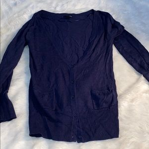 Navy Blue Button Cardigan
